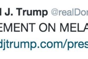 Fue el propio Donald Trump quien publicó el comunicado de su escritora de campaña. Foto:Twitter @realDonaldTrump. Imagen Por: