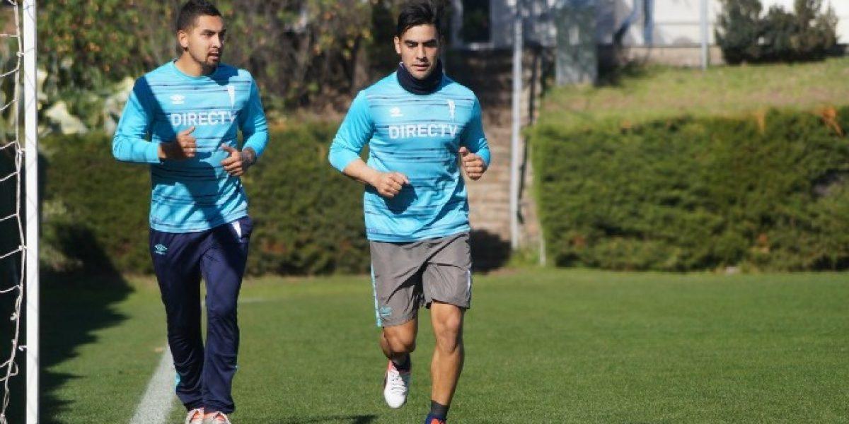 Jeisson Vargas volvió a entrenar en la UC a la espera de destrabar su venta al Bologna