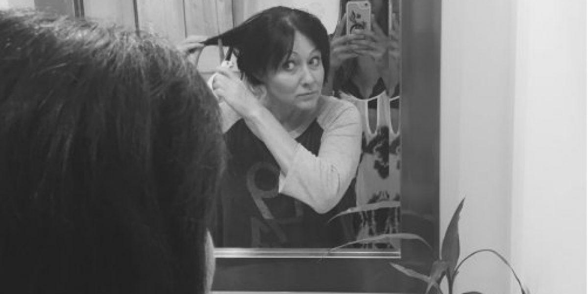 Shannen Doherty pierde el cabelloo en su lucha contra el cáncer
