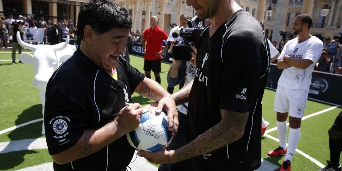 Maradona reprocha a Simeone: