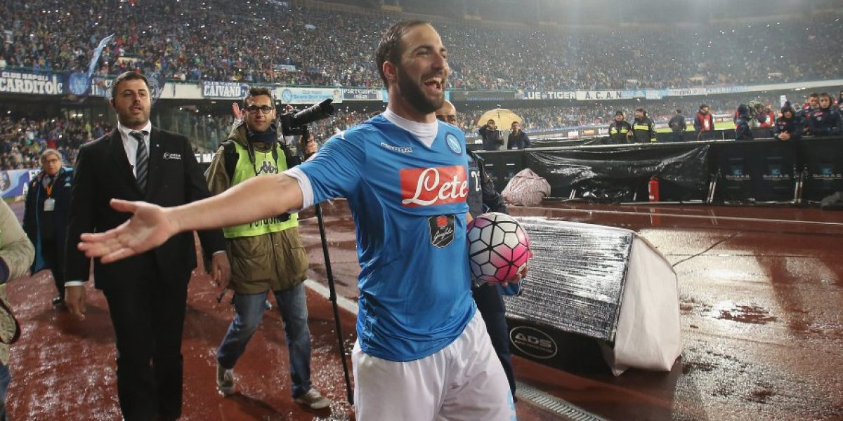Napoli rechazó millonaria oferta del Atlético de Madrid por Gonzalo Higuaín