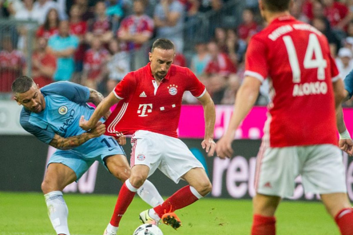 Franck Ribery fue uno de los jugadores más destacados del amistoso ante Manchester City Foto:Getty Images. Imagen Por: