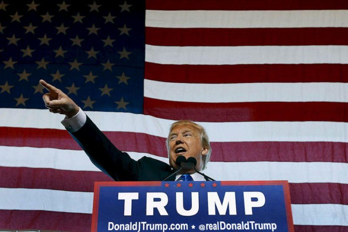 """""""Es un gran honor ser el nominado republicano a la presidencia de Estados Unidos. Trabajaré fuerte y nunca los defraudaré. América primero"""", publicó el magnate en Twitter. Foto:Getty Images. Imagen Por:"""