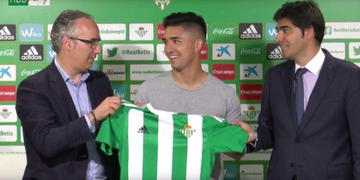 Felipe Gutiérrez desafía a Sampaoli en su presentación con el Betis