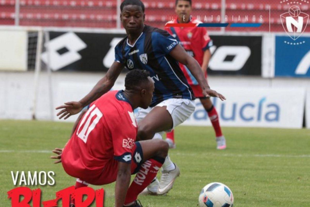 Sin embargo, antes de su partido por la Libertadores, Independiente del Valle tuvo que jugar con suplentes por el torneo nacional Foto:Twitter El Nacional. Imagen Por: