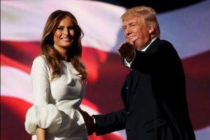 Melania Trump, esposa del magnate, también discursó durante la convención. Sin embargo su mensaje fue criticado por tener pasajes similares a las palabras dirigidas por Michelle Obama en la convención demócrata de 2008. Foto:Getty Images. Imagen Por: