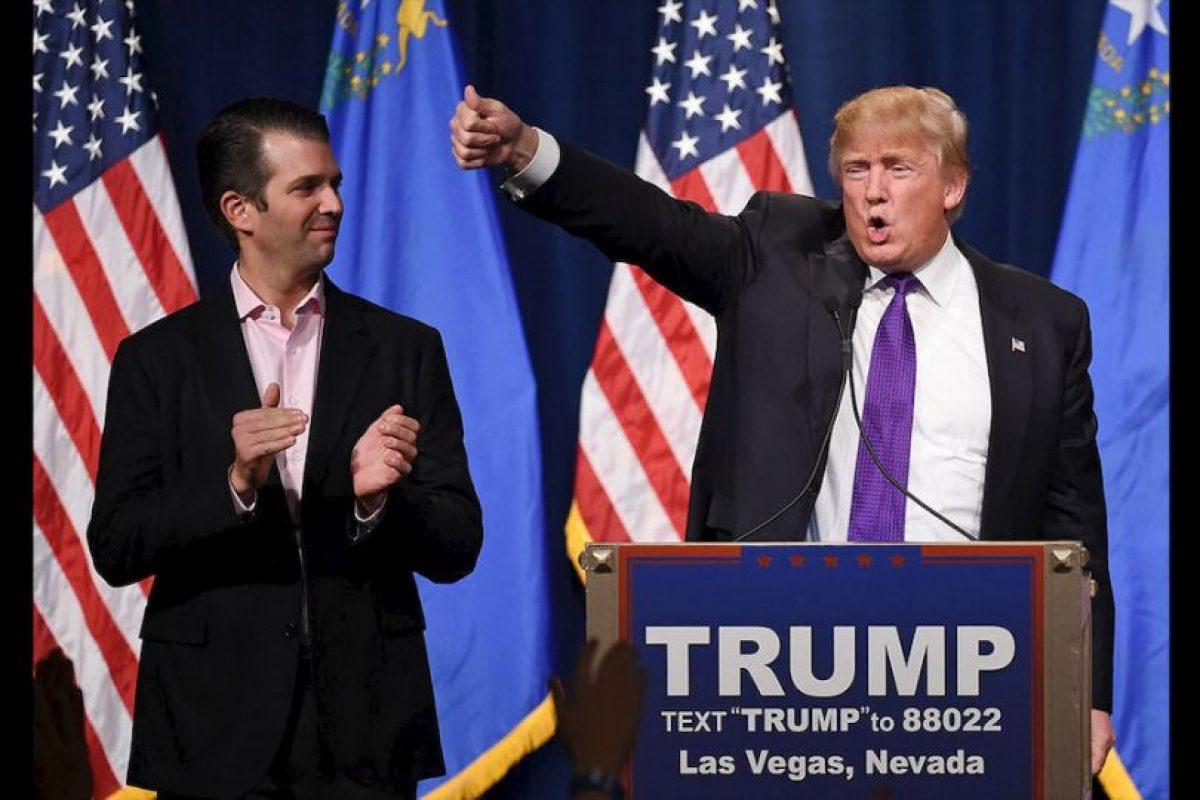 Donald Trump Jr. emitió un mensaje durante la Convención Nacional Republicana donde se mostró seguro. Sus seguidores argumentan que podría seguir los pasos políticos de su padre. Foto:Getty Images. Imagen Por: