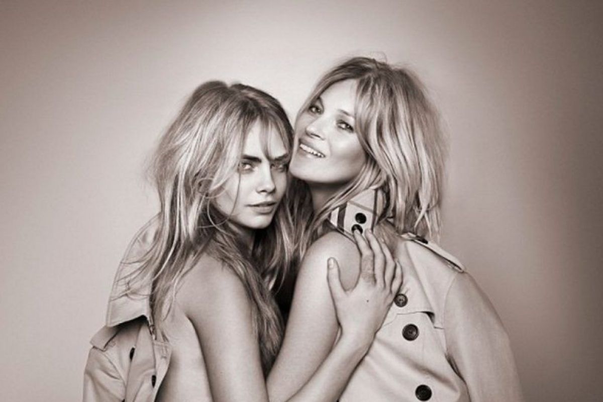 Cara Delevingne y Kate Moss Foto:Burberry. Imagen Por: