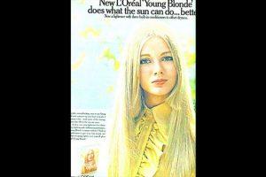 Esto se inició desde hace años. Por ejemplo en esta campaña de L' oreal en los años 70 ya se veía a una modelo rubia. Foto:L' oreal. Imagen Por: