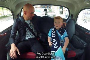 Un pequeño niño de siete años pensó que se iba a juntar con el conductor del canal oficial de Manchester City Foto:Captura de pantalla. Imagen Por: