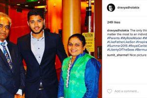 Por un mes, el joven de 21 años tuvo que esforzarse por encontrar un trabajo y vivir de sus propias ganancias. Foto:Instagram/dravyadholakia. Imagen Por: