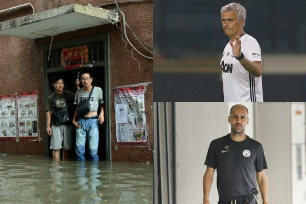 Las lluvias obligaron a suspender el primer clásico de Manchester. Imagen Por: