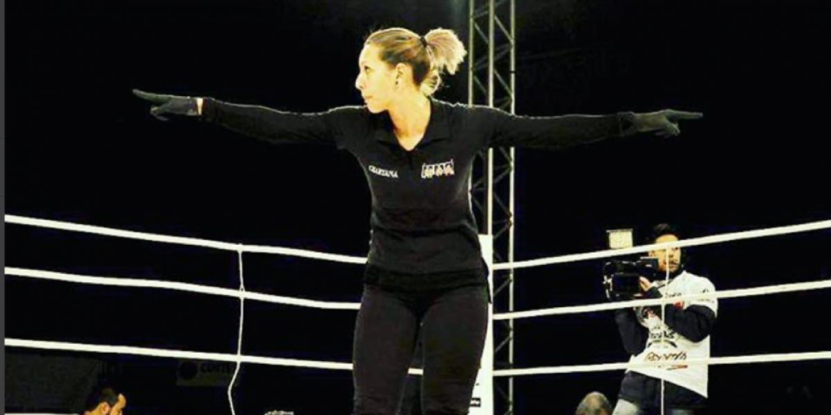 MMA: Conoce a Charyana Gamballe, la réferi que salva vidas en la jaula