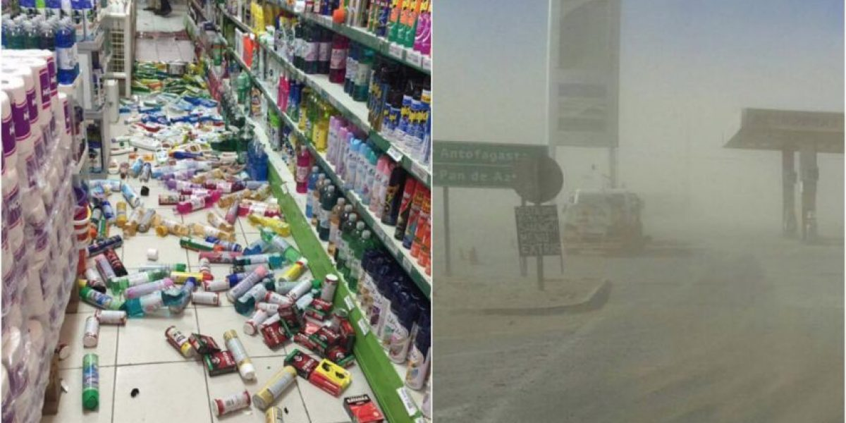 Las imágenes en Chañaral tras el fuerte temblor que azotó al norte del país