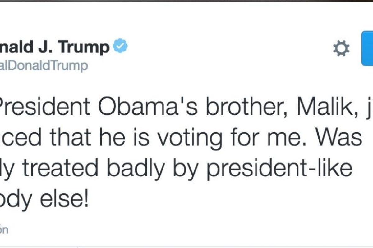 Así celebró el candidato presidencial del Partido Republicano. Imagen Por: