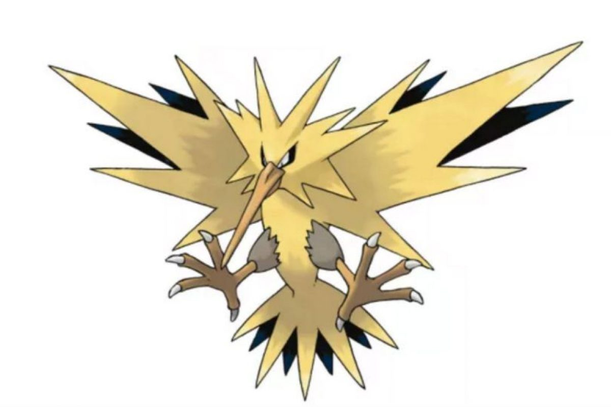 Zapdos, otra ave legendaria. Foto:Pokémon. Imagen Por: