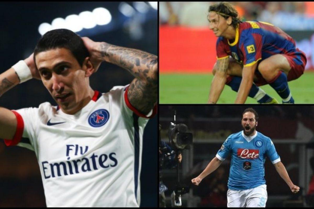 Ángel Di Maria, Zlatan Ibrahimovic y Gonzalo Higuaín son los jugadores que más han movido en fichajes Foto:Getty Images. Imagen Por: