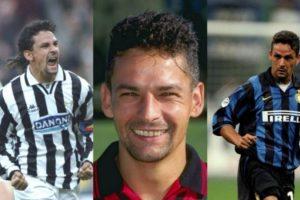 Roberto Baggio ostenta el registro de haber jugado por Juventus, AC Milán e Inter de Milán, todos grandes enemigos entre sí Foto:Getty Images. Imagen Por: