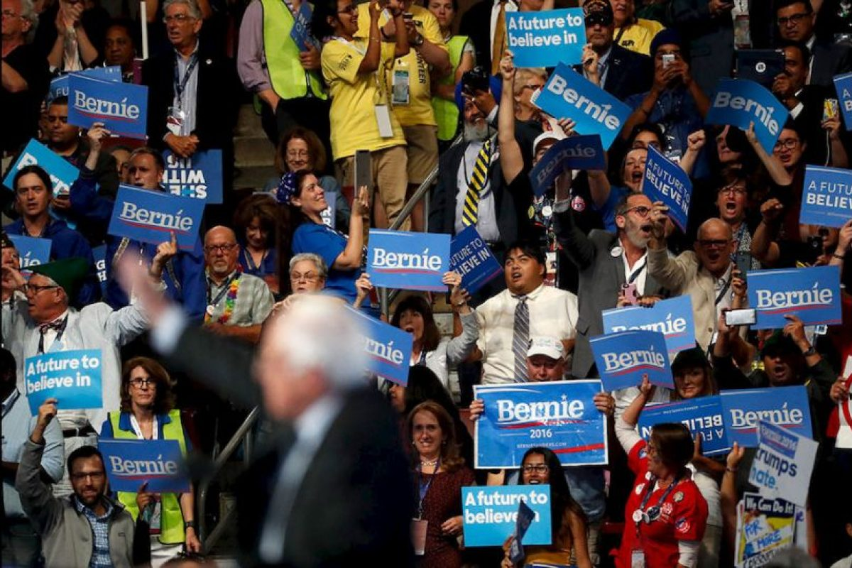 Bernie Sanders fue uno de los oradores más aclamados de la Convención Nacional Demócrata. Foto:Getty Images. Imagen Por: