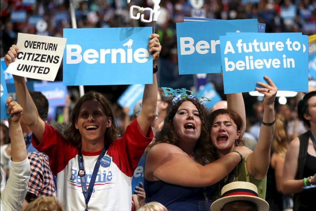 Sus simpatizantes aún muestran su repudio a la candidatura de Hillary Clinton. Foto:Getty Images. Imagen Por: