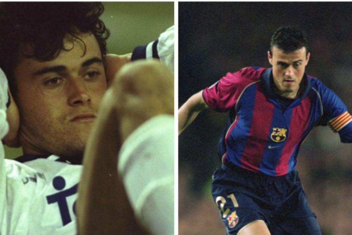 El actual técnico de Barcelona, Luis Enrique, jugó primero en Real Madrid y después partió al equipo culé para consolidarse e, incluso, ser capitán Foto:Getty Images. Imagen Por: