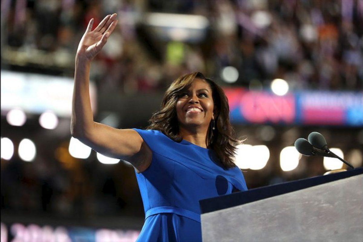 Michelle Obama ofreció un gran discurso sobre el tipo de país que quiere para sus hijas y las generaciones jóvenes. Foto:Getty Images. Imagen Por: