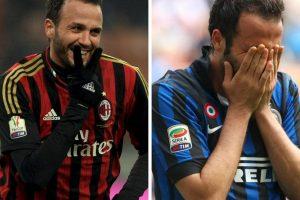 Giampaolo Pazzini fue otro de los jugadores que vistió la camiseta de los dos equipos de Milán Foto:Getty Images. Imagen Por: