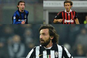 Andrea Pirlo se suma a los ejemplos de los jugadores que puede decir que vistió la camiseta de los tres grandes equipos de Italia Foto:Getty Images. Imagen Por: