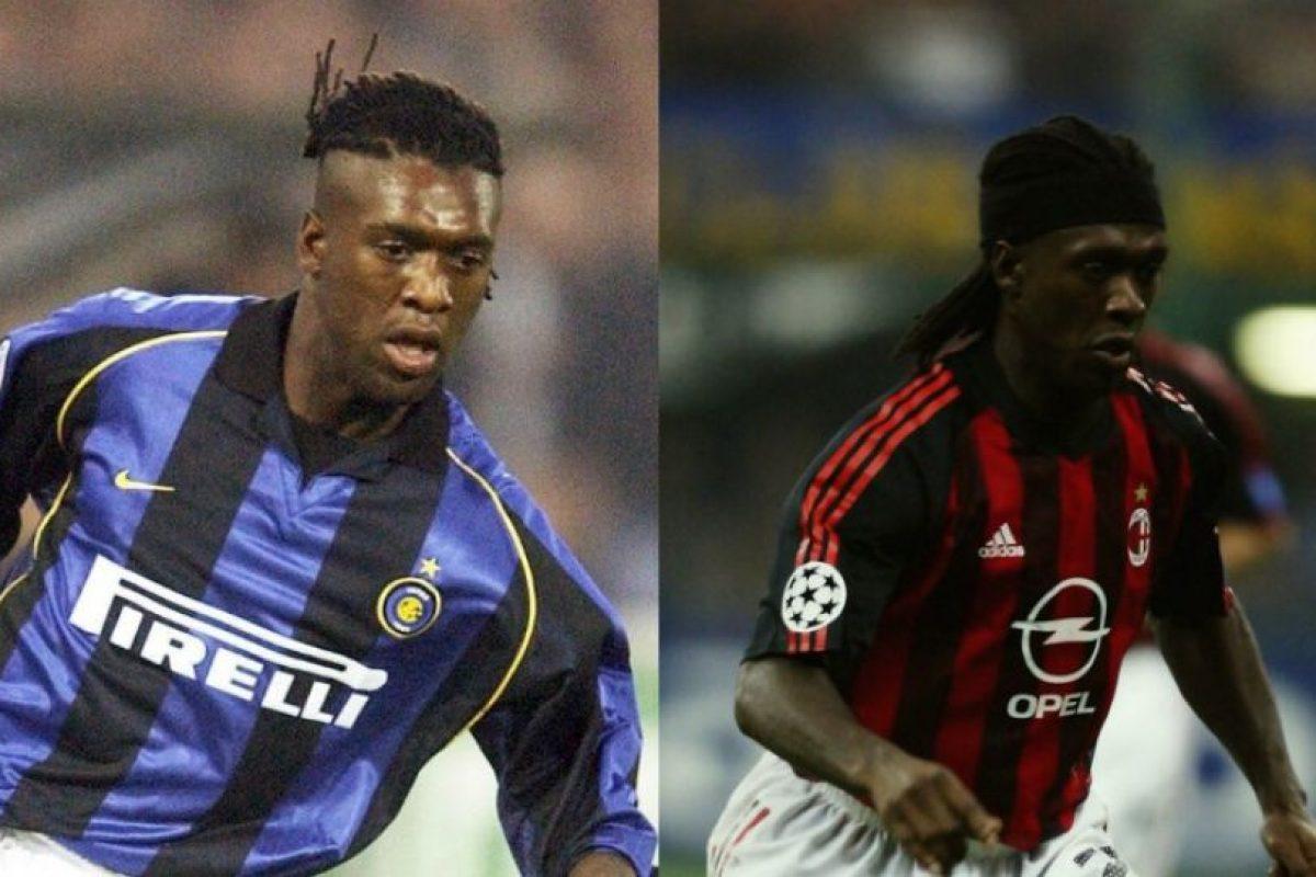 Clarence Seedorf también es un ejemplo de los jugadores que vistieron las camisetas de Inter de Milán y AC Milán Foto:Getty Images. Imagen Por: