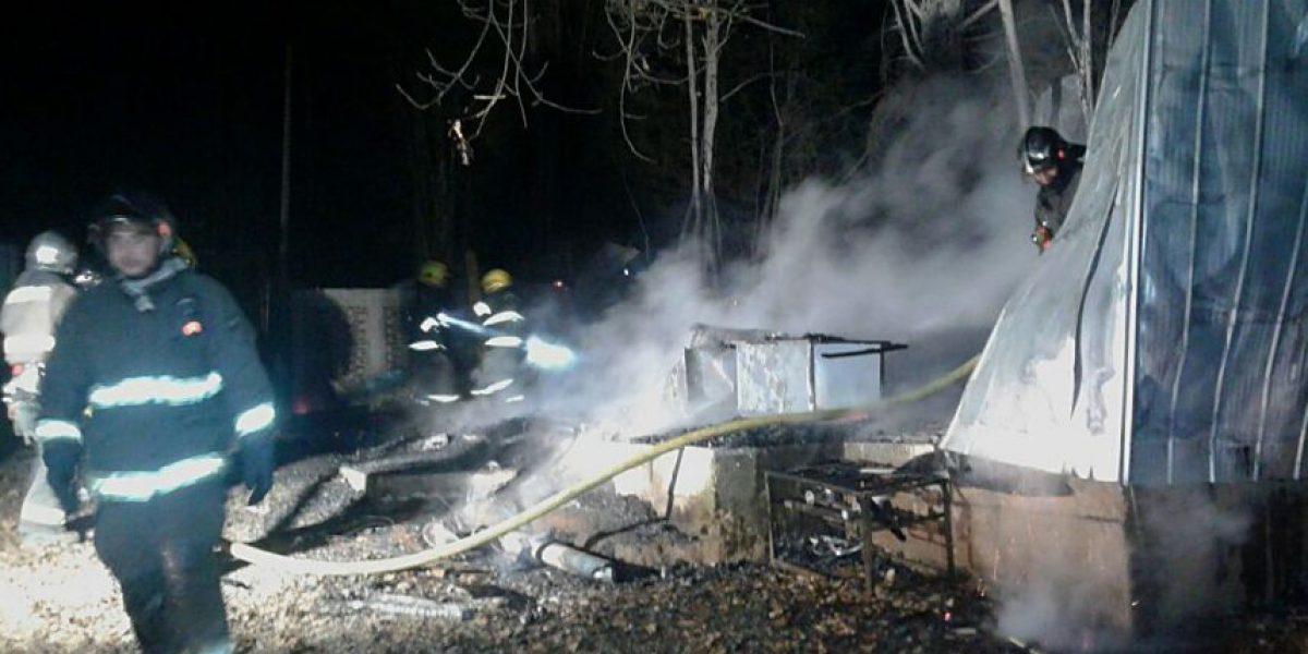 Buscan a los autores: incendio destruyó templo evangélico en Padre Las Casas