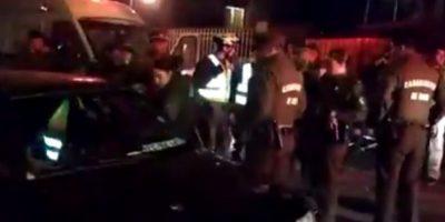 Intentó atropellar a carabinero: control en Ñuñoa terminó con un sujeto baleado