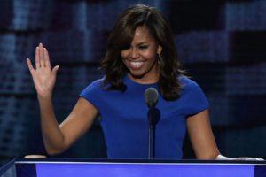 Michelle Obama dio un inspirador discurso. Foto:Getty Images. Imagen Por: