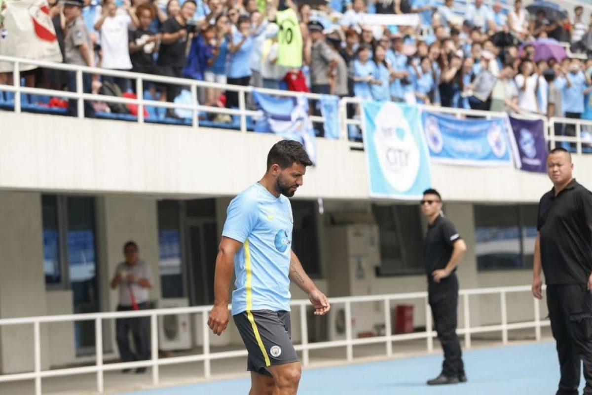 Sergio Agüero tapó las críticas marcándole un gol a Borussia Dortmund Foto:Getty Images. Imagen Por: