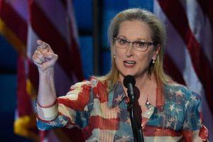 Meryl Streep dio un discurso en el que comparó a Hillary Clinton con otras figuras femeninas históricas estadounidenses. Foto:Getty Images. Imagen Por: