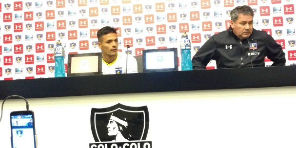 Mostró su lado sensible: La emoción de Felipe Campos en su presentación en Colo Colo