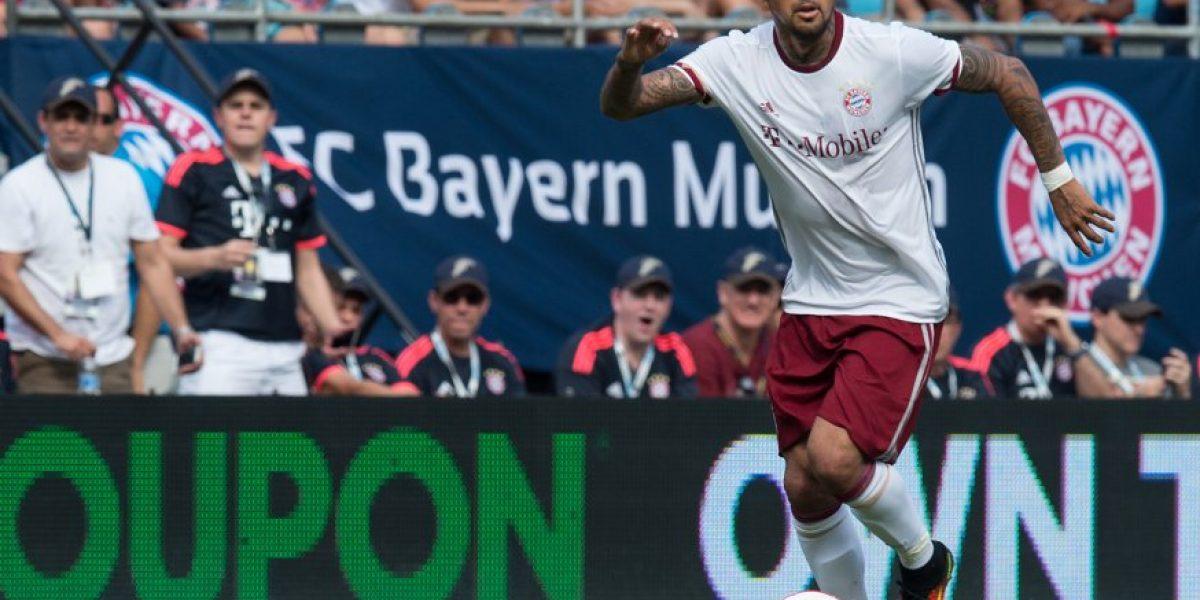 Arturo Vidal fue titular en goleada de Bayern Munich frente a Inter de Milán