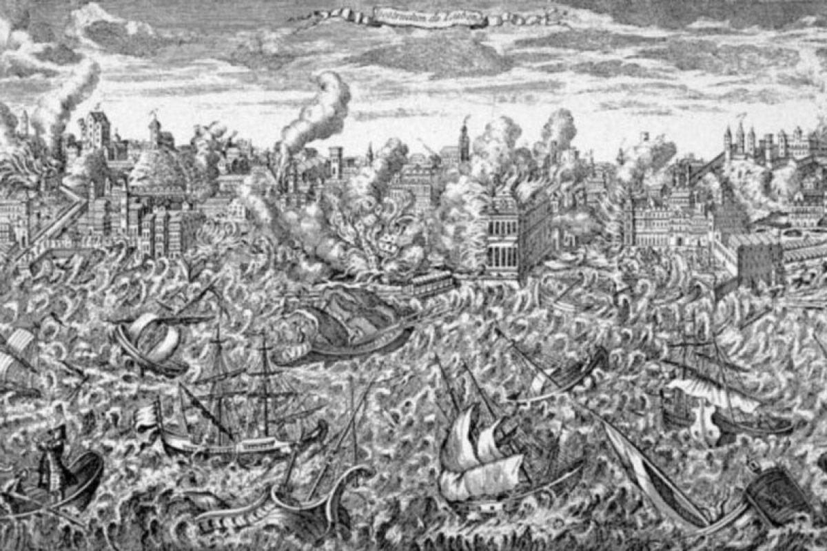 Pero la gente se olvida que los desastres naturales han ocurrido siempre. Esto fue en el terremoto y tsunami de Lisboa en 1755. Foto:vía Wikipedia. Imagen Por: