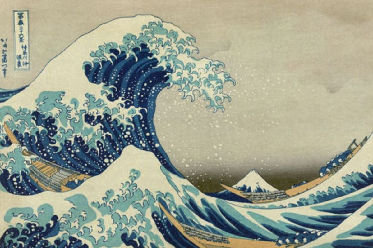 En Japón esta obra del periodo Edo muestra cómo han sido los tsunamis que siempre han asolado al país. Foto:vía Wikipedia. Imagen Por: