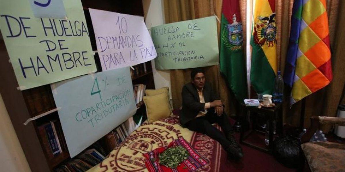 El gobernador de La Paz que desafía a Evo Morales con una huelga de hambre