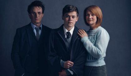 Harry, Albus Severus y Ginny.