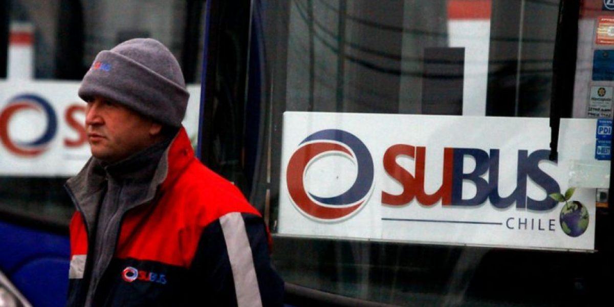 Transantiago: conductores de empresa Subus realizan paro este lunes