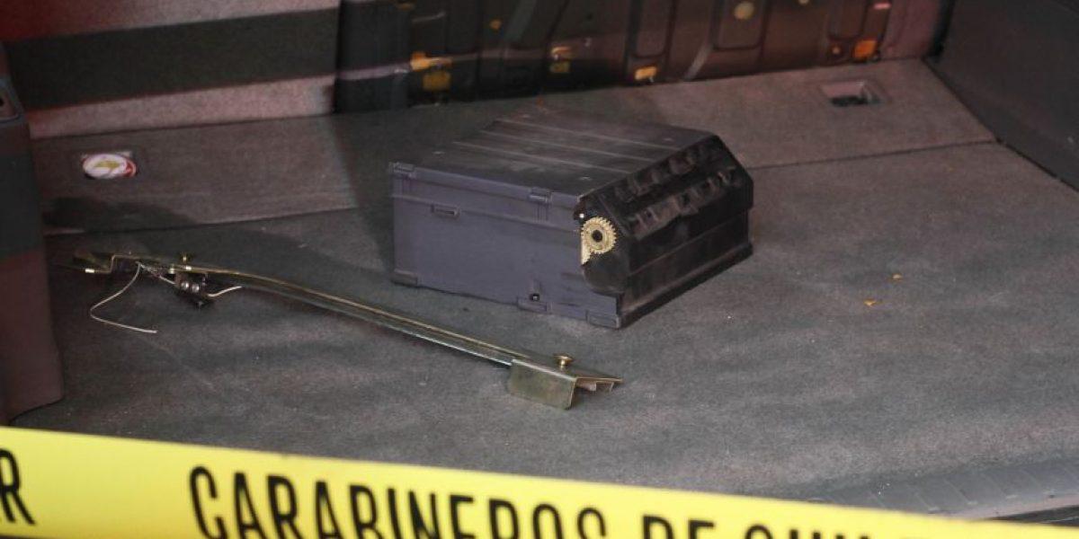 Robo frustrado de cajero automático afectó a Juzgado de Policia Local de Santiago