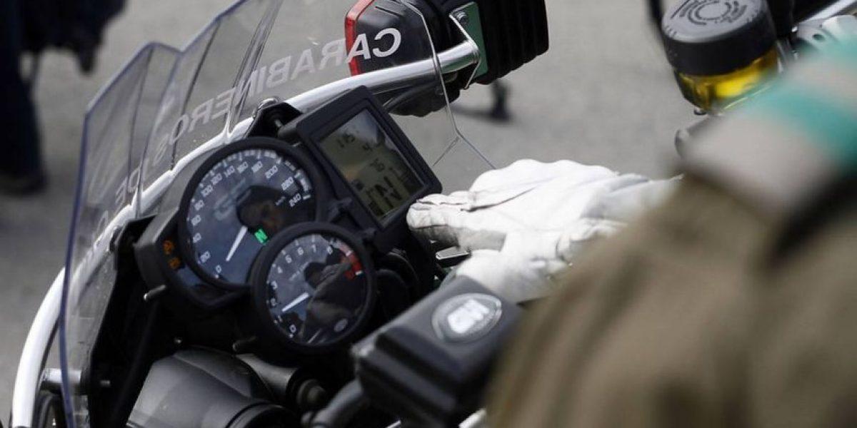 Carabinero murió al impactar su moto con un camión en Puente Alto