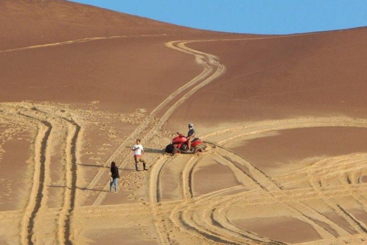 Utilizaron diversos vehículos para dañar la zona Foto:Facebook.com/Sernanp-Oficial. Imagen Por: