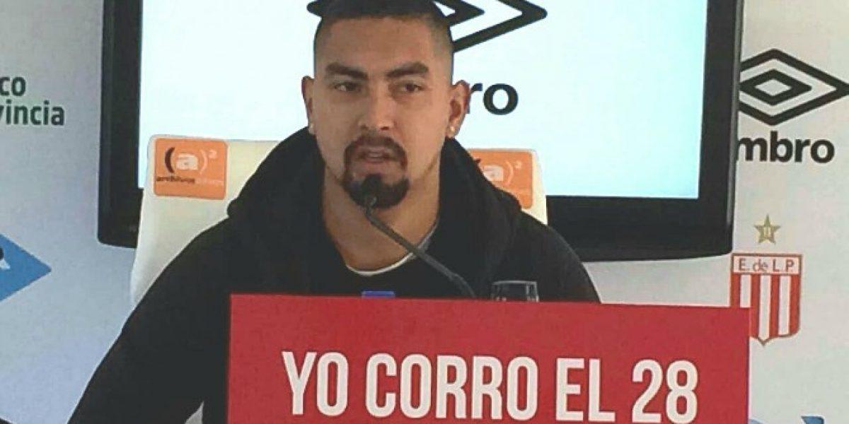 Jeisson Vargas en su llegada a Estudiantes: