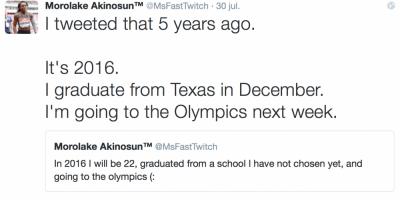 Río 2016: Atleta tuiteó hace cinco años que estaría en Brasil