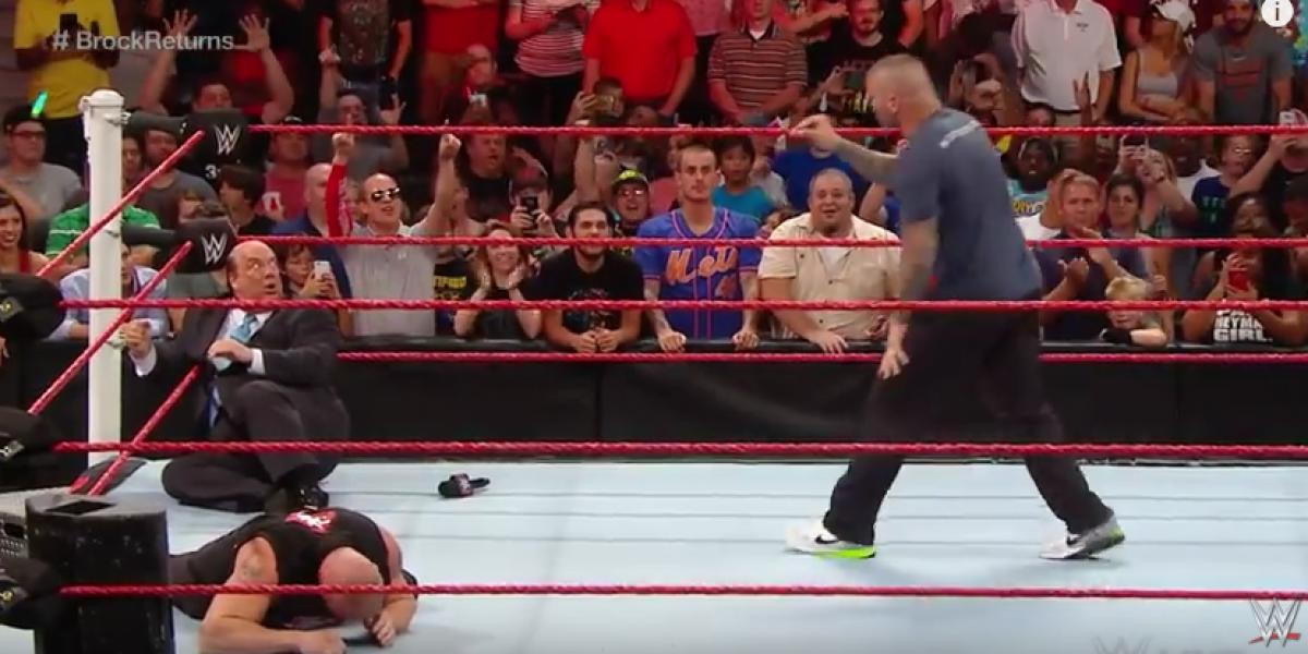 ¿Un anticipo de SummerSlam? El espectacular RKO que recibió Brock Lesnar