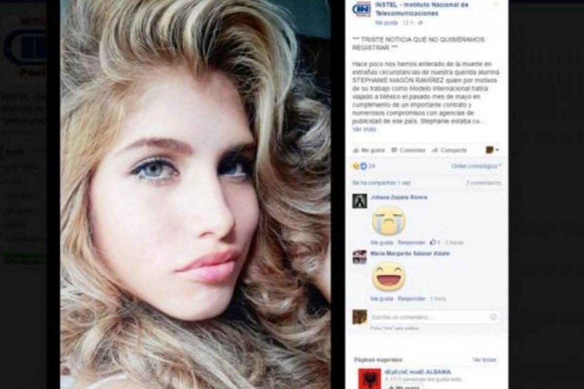 Fue hallada con señales de tortura y su familia espera repatriar su cuerpo. Foto:Facebook. Imagen Por: