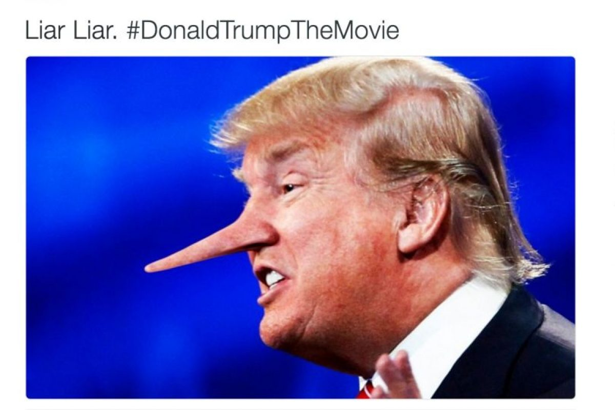 """Liar Liar"" (mentiroso, mentiroso) Foto:Twitter.com. Imagen Por:"