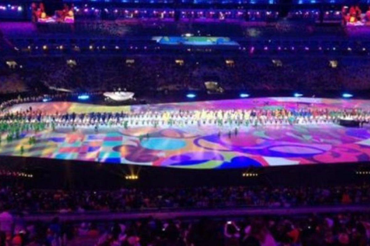 Imágenes filtradas del último ensayo de la ceremonia de inauguración Foto:Twitter. Imagen Por: